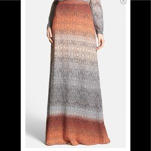 Diane Von Furstenberg Cody Crinkle Printed Skirt